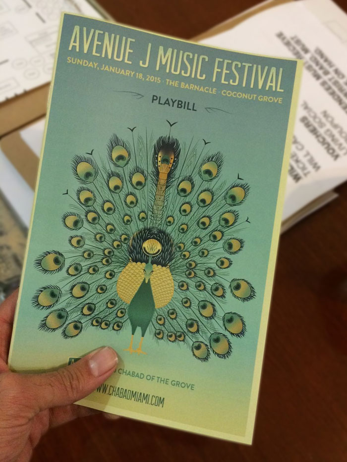 Avenue J Music Festival Playbill