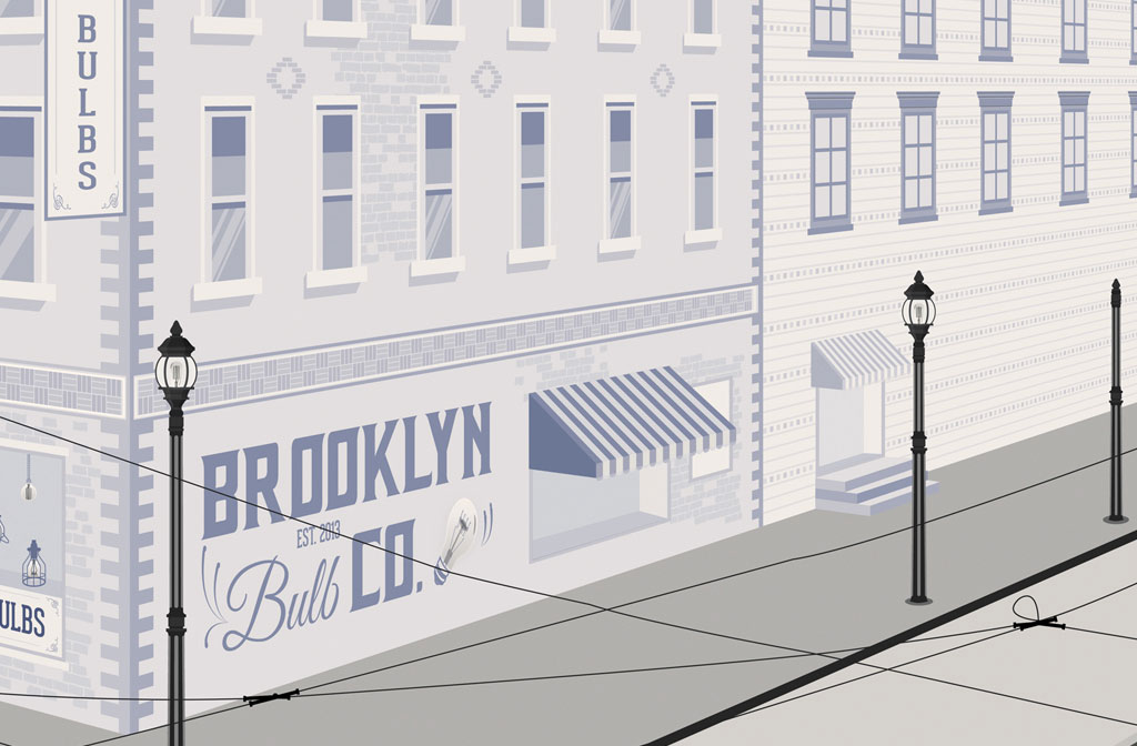 Brooklyn Bulb Co. Illustration