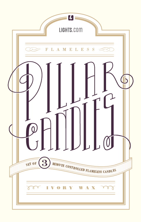 Lights.com Pillar Candles