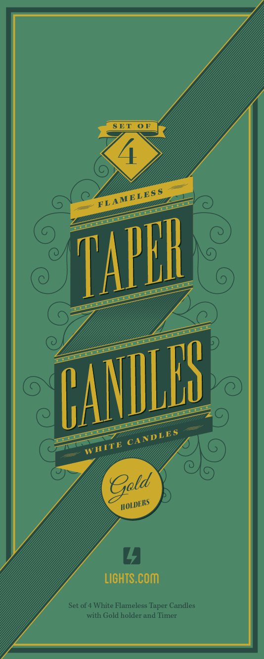Lights.com Flameless Taper Candles