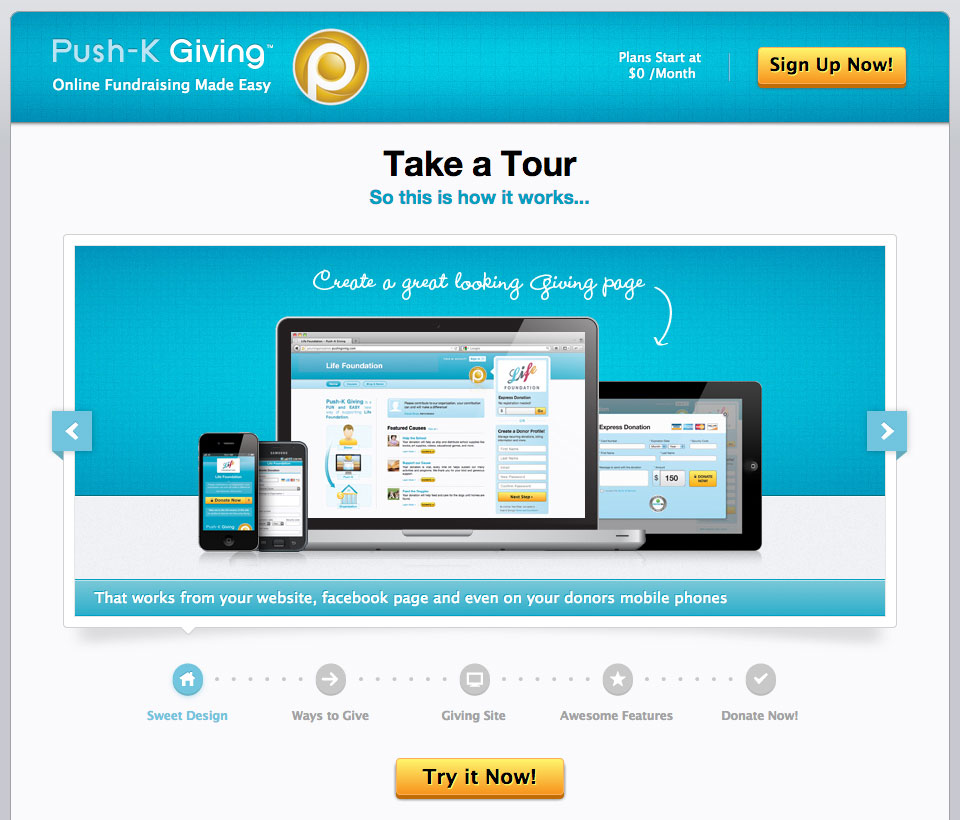 Push-K Giving Web App